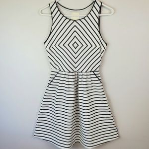 ANTHROPOLOGIE MAEVE Black and White Striped Dress